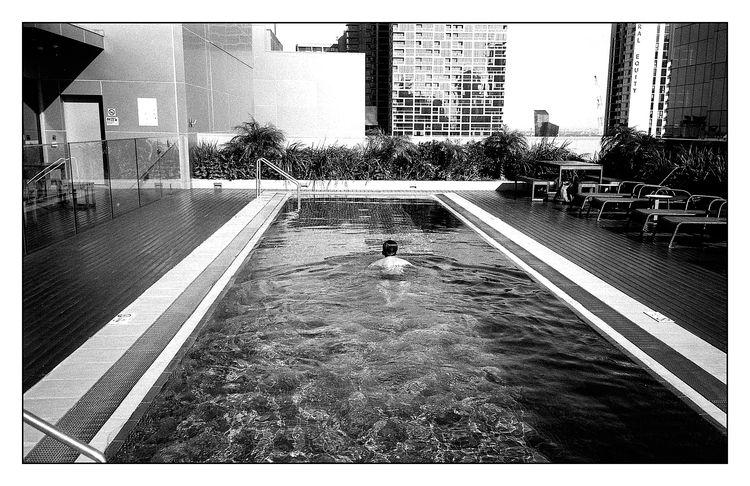 Rooftop Swimmer - streetphotography - michaelfinder | ello