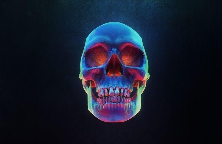 Skull 1 (3D illustration - skull - rony_azurdia | ello