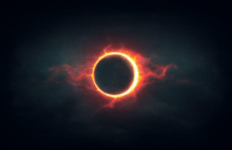 Fire Eclipse (Digital Painting - rony_azurdia | ello