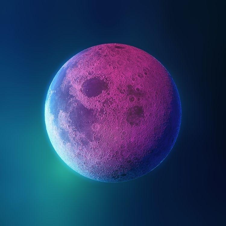 Neon Moon - 3D, Illustration, 3dillustration - rony_azurdia | ello