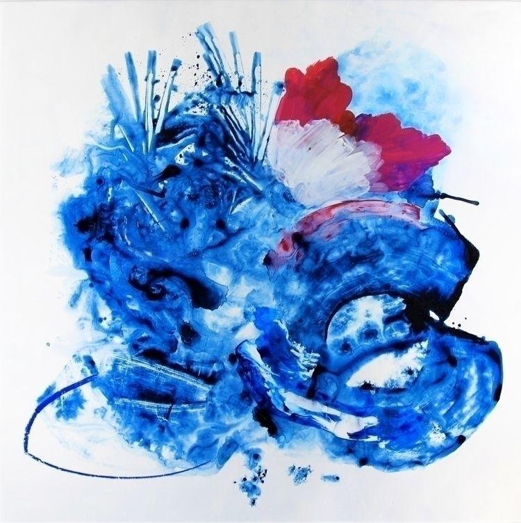 blue' , mixed media painting 20 - fussagabriela   ello