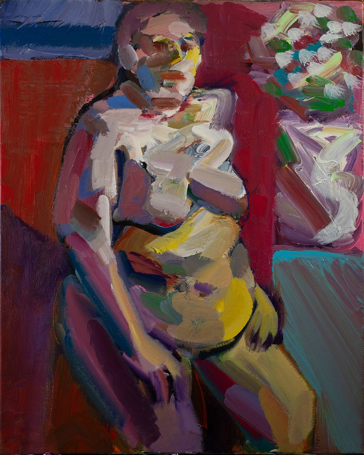 Seated Model Acrylic canvas, 30 - chunbumpark | ello