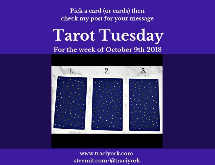 Happy Tarot Tuesday! reading in - traciyork | ello