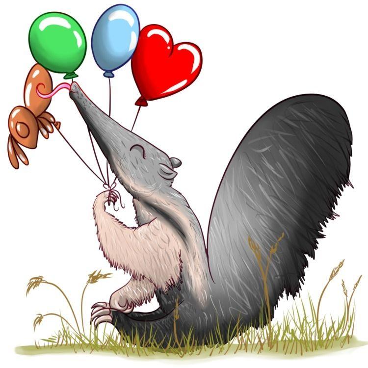 cute giant anteater - studiocorvid | ello