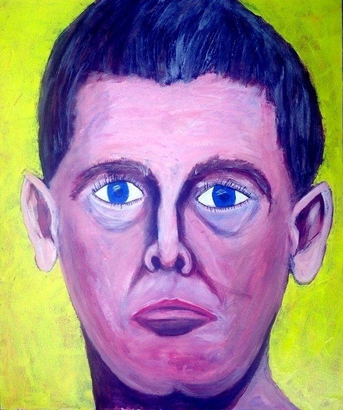 Portrait 2018, acrylic hardboar - artchrisdale | ello