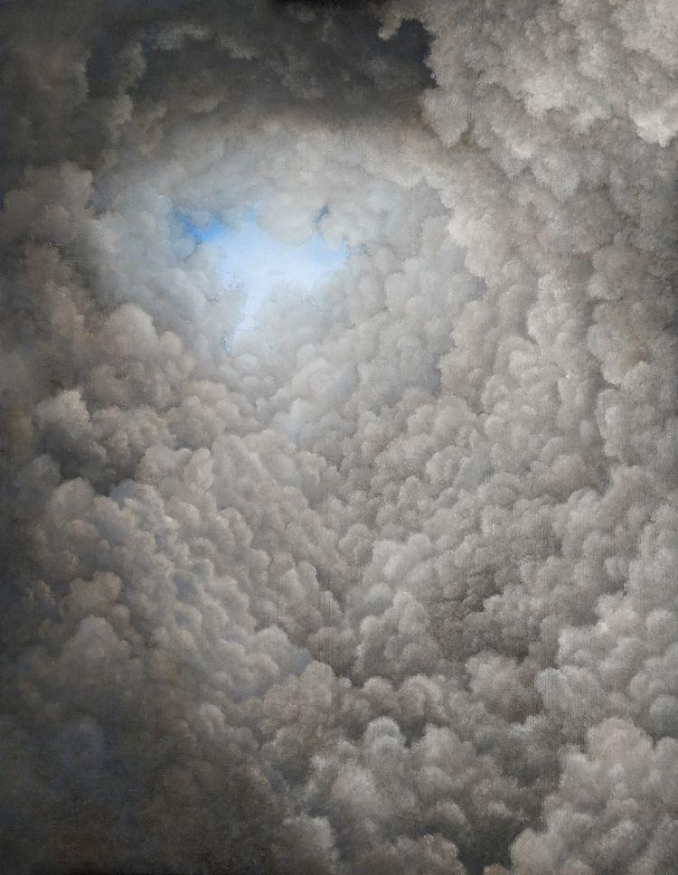 eye storm 90×70 - Oil canvas - camilla_salvagnin | ello