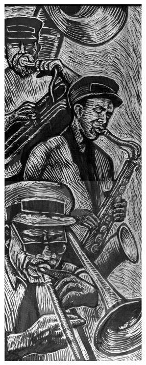 Orleans Line Parade Woodcut Blo - bmattcook | ello