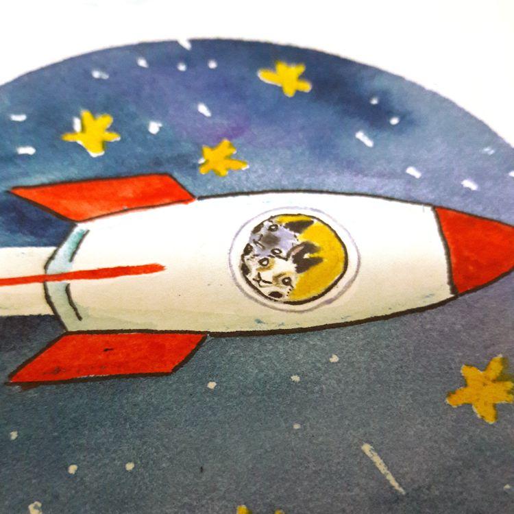 Day 11 Inktober - Rocket - flpinktober - j0eyg1rl | ello