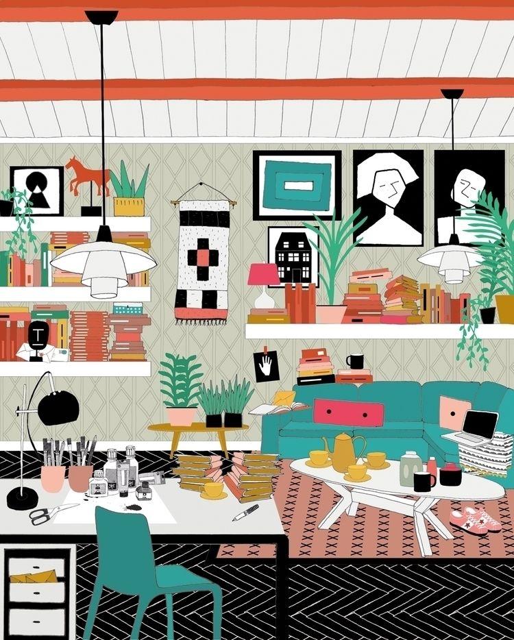 Illustrations Flow Magazine - studioferweda | ello