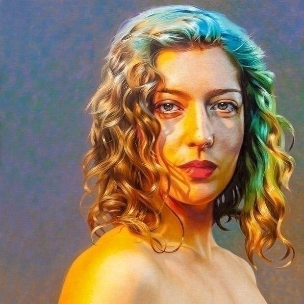 excited show latest painting. S - nadinerobbinsart | ello