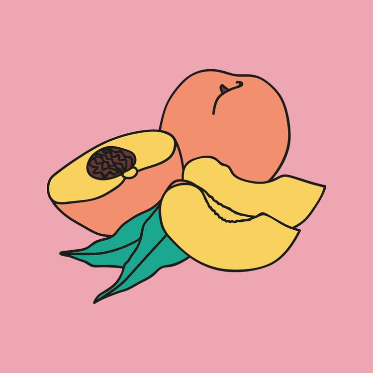 PEACHES - icons, illustration, peach - thepeachdiaries | ello
