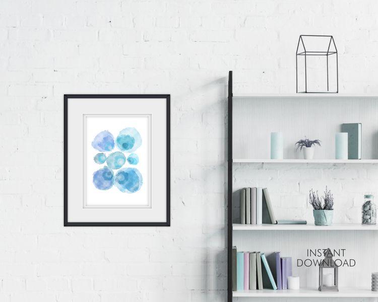 Blue Painting Print | Abstract  - artsbynaty | ello