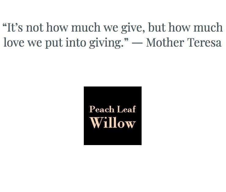 give.. Mother Teresa - gift, giving - plw | ello