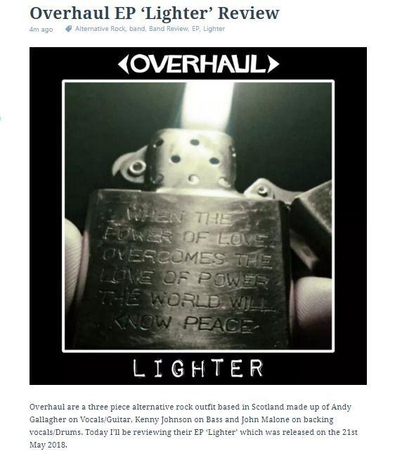 Overhaul EP 'Lighter' Review pi - offtherecordblog | ello