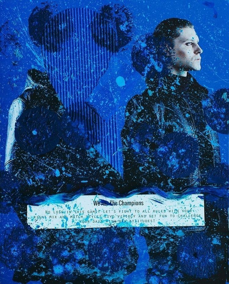 THAI MEN blue Acrylic, color pa - eessoo | ello