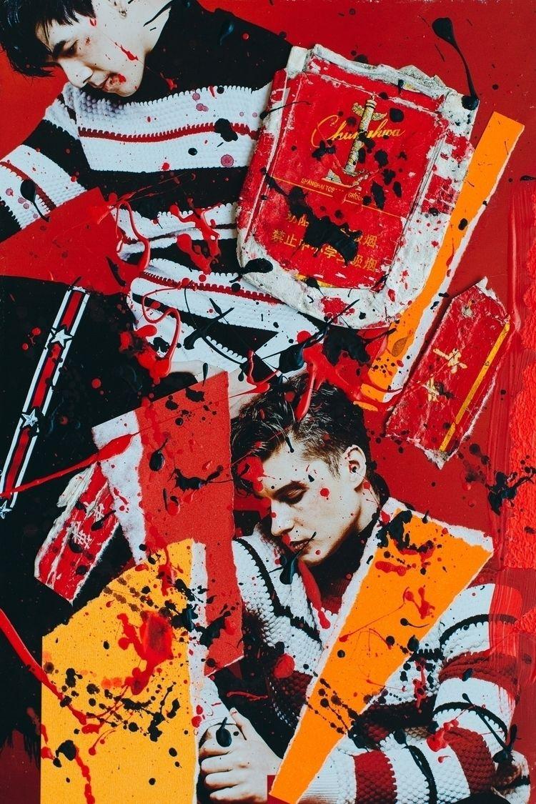 THAI MEN RED Acrylic, paper cig - eessoo | ello