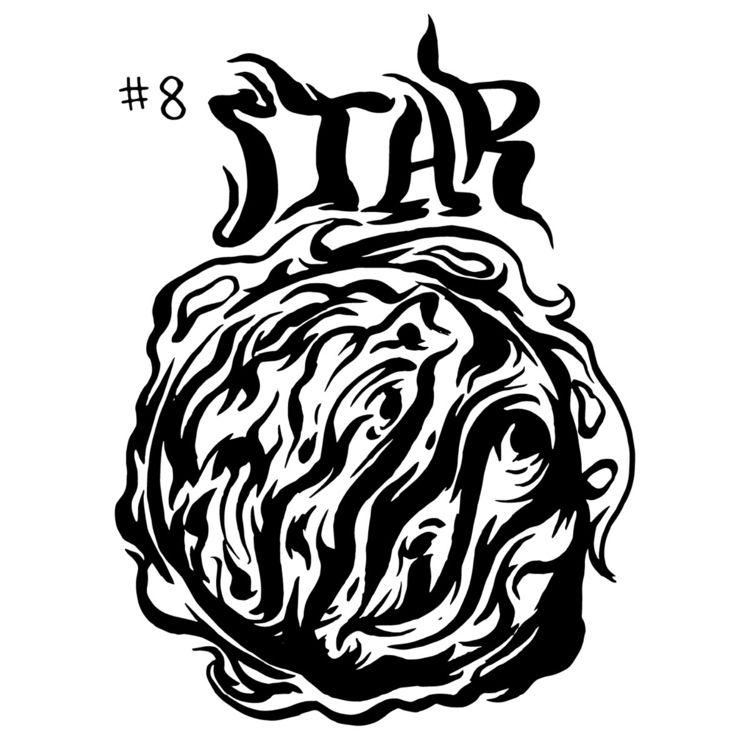 Inktober Day 8 Star - inktober - thomcat23 | ello