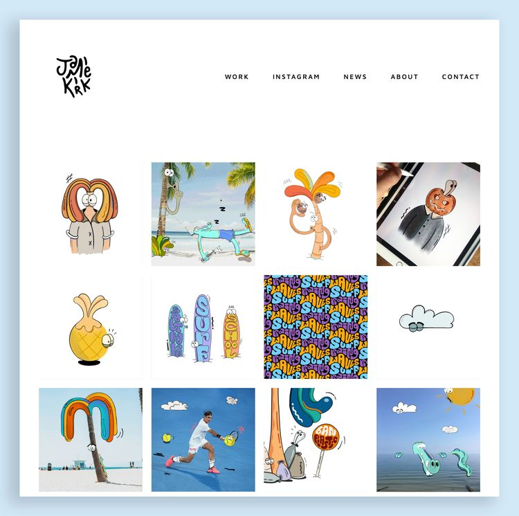added work projects website! lo - jamiekirk | ello