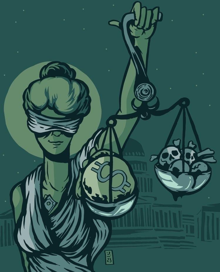 Corrupt Justice - prisonreform, illustration - thomcat23 | ello