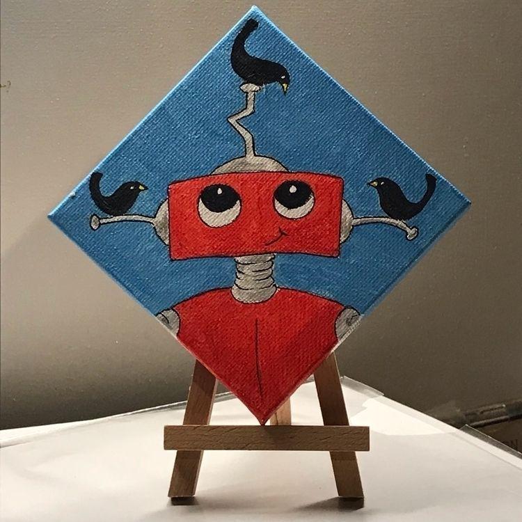 4x4 canvases - artforsale, robot - merseyriverlad | ello
