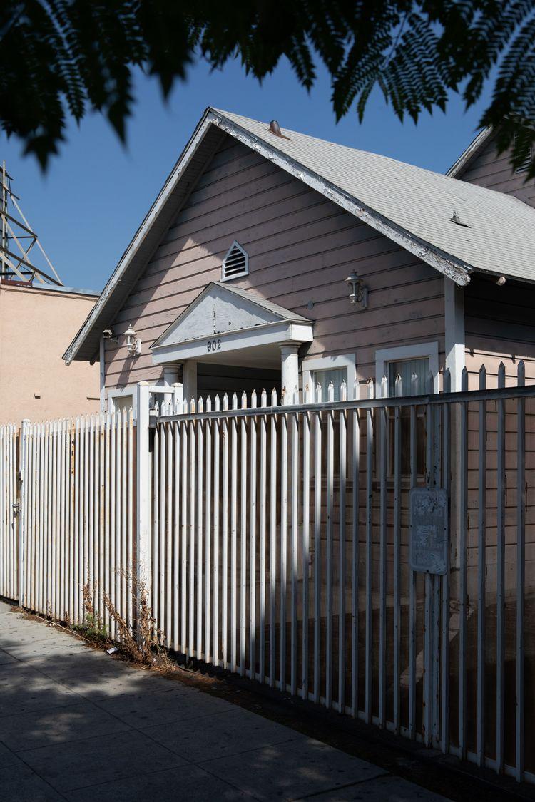 Pink House, Metal Fence, Glenda - odouglas | ello
