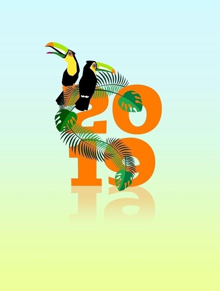 Calendar 2019 – Animals Typogra - piakolle | ello