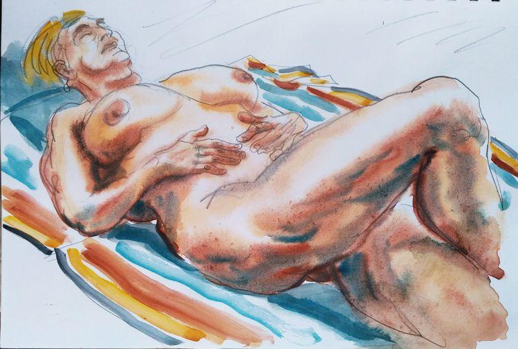 2 drawings Lesley. Pencil water - pfelelep | ello