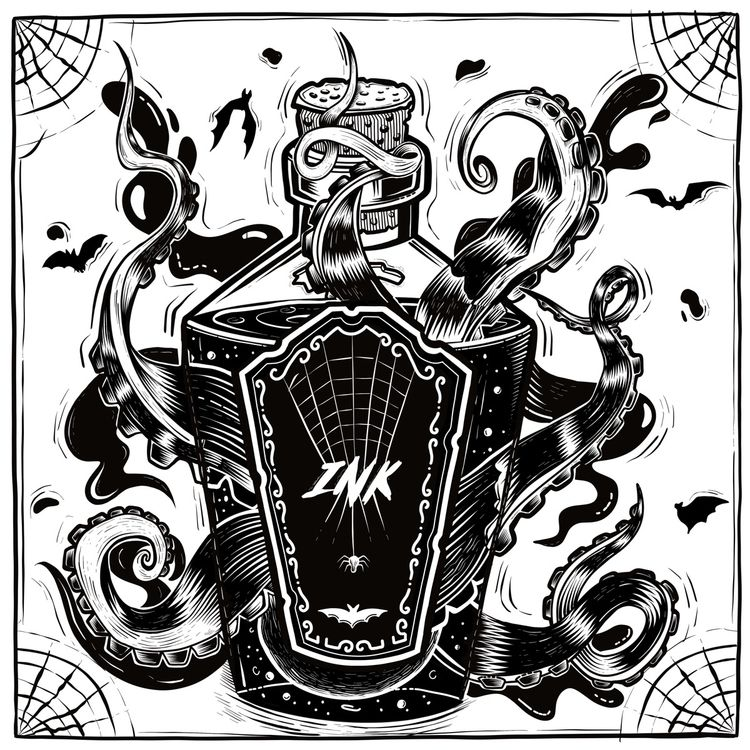 🦇 — inktober - Day18, Bottle-, inktober2018 - freshmilkart | ello