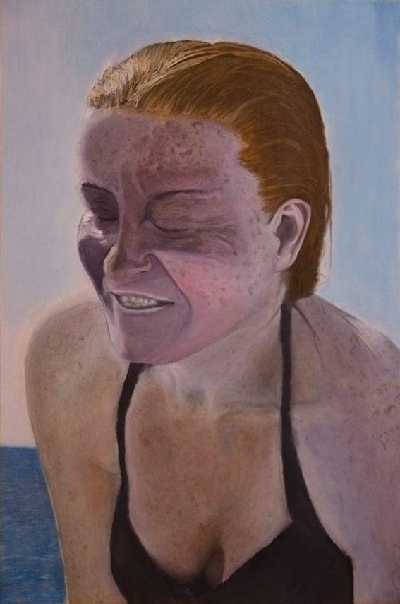 Titel: Sur la plage Oil canvas - jorgenolsen | ello