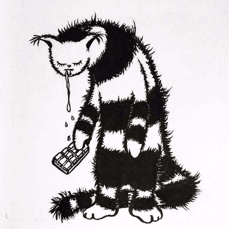 "day 15 - ""weak - Inktober, illustration - borianag | ello"