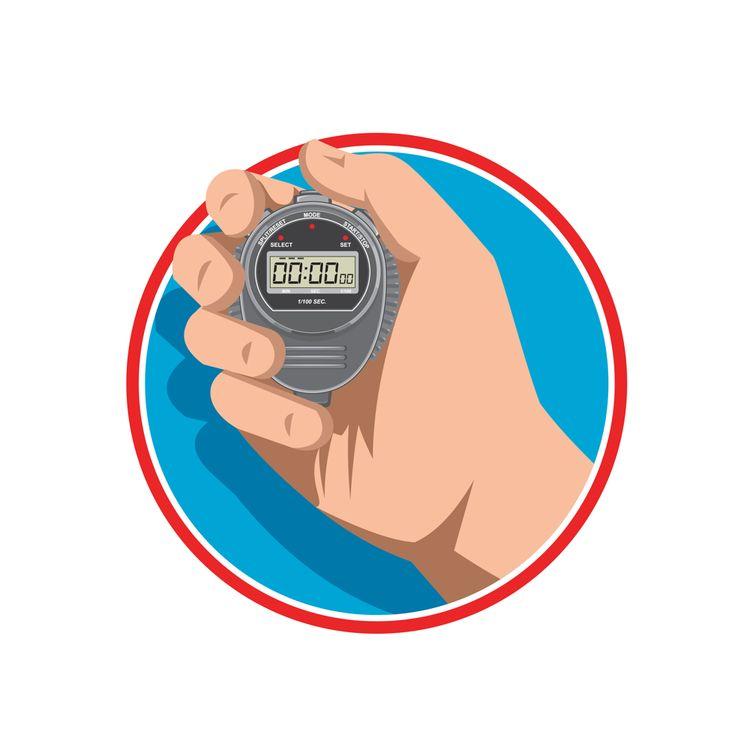 Hand Holding Digital Stopwatch  - patrimonio   ello
