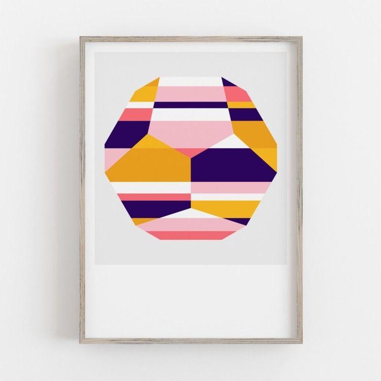 'Dusk' print Crystallise series - alexfoxley   ello
