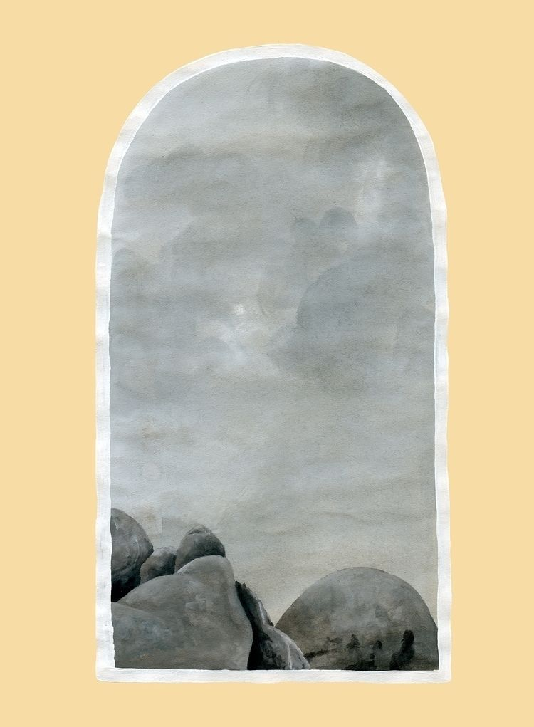 Boulders, windows series. 9x12 - hallierosetaylor | ello