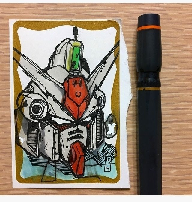 Gundam Slap - Illustration, otaku - aaronkraten | ello