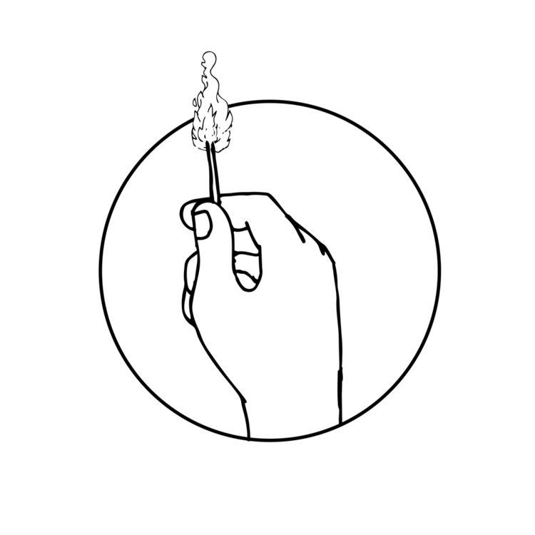 Hand Holding Burning Matchstick - patrimonio | ello