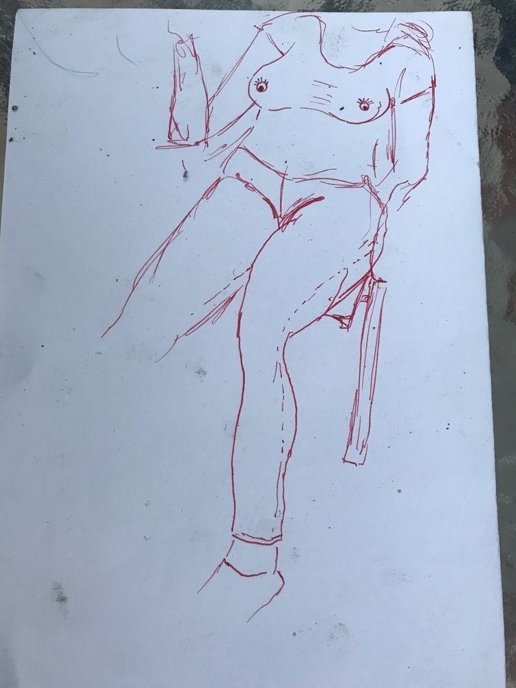 Quick sketch Kiara patio founta - oldpaint   ello