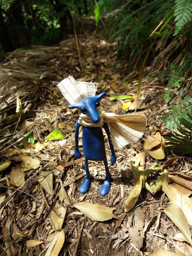 Royal Blue Grubb - arttoy, sculpture - jedsevard | ello