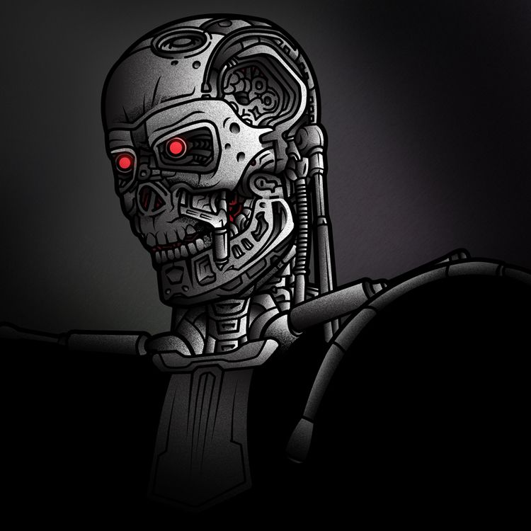terminator illustration - shinobiskater | ello