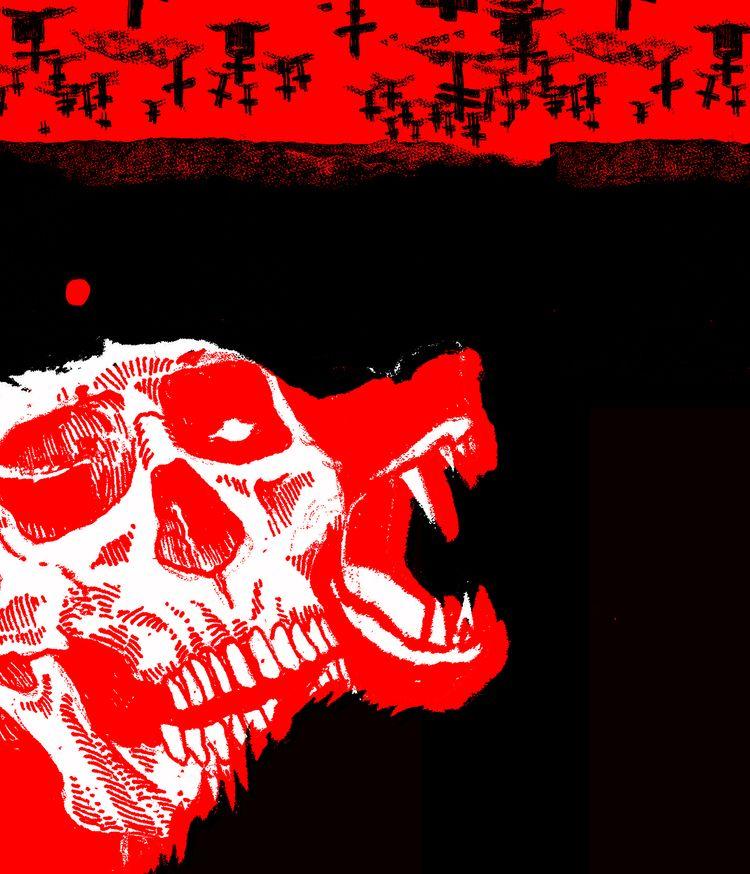 dead desert - illustration, artwork - polkip | ello