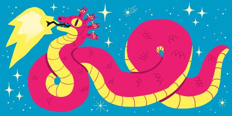 ☆゚.* cosmic snake *. ☆゚ PORTFOL - jasmindreyer | ello