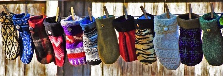 Unique, handmade sweater mitten - artinspiredmittens   ello