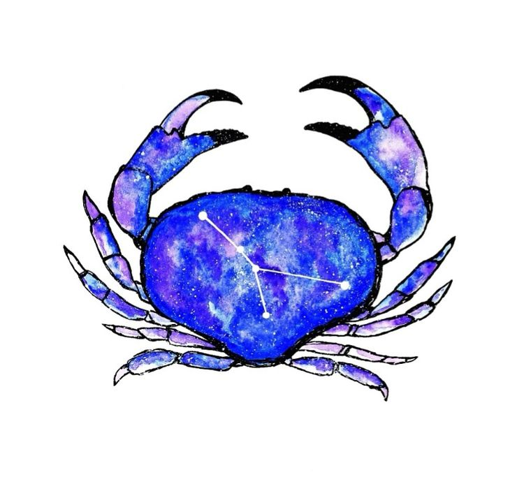 cancer, crab, sunsign, moonsign - moonflux_studio | ello