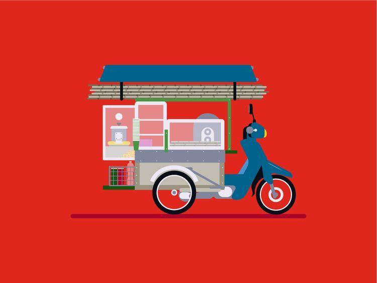 Khmer Vehicle - Sugar cane juic - aureliensoula | ello