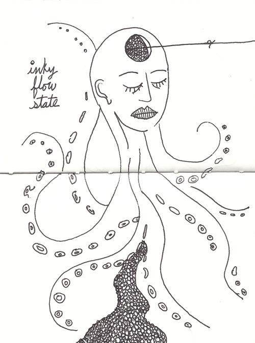 inky flow state - octopus, inktober - catswilleatyou | ello