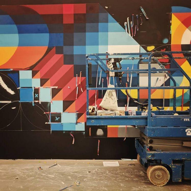 WIP shot mural  - art, streetart - shaneomalleyart | ello