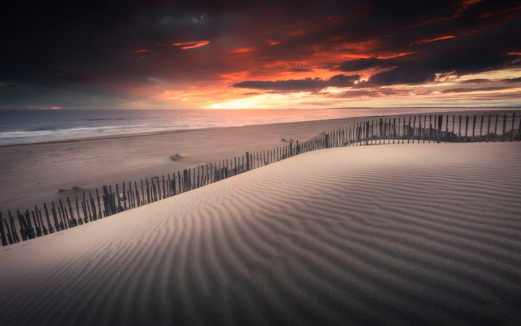 Sunset Espiguette beach, Camarg - david_parenteau | ello