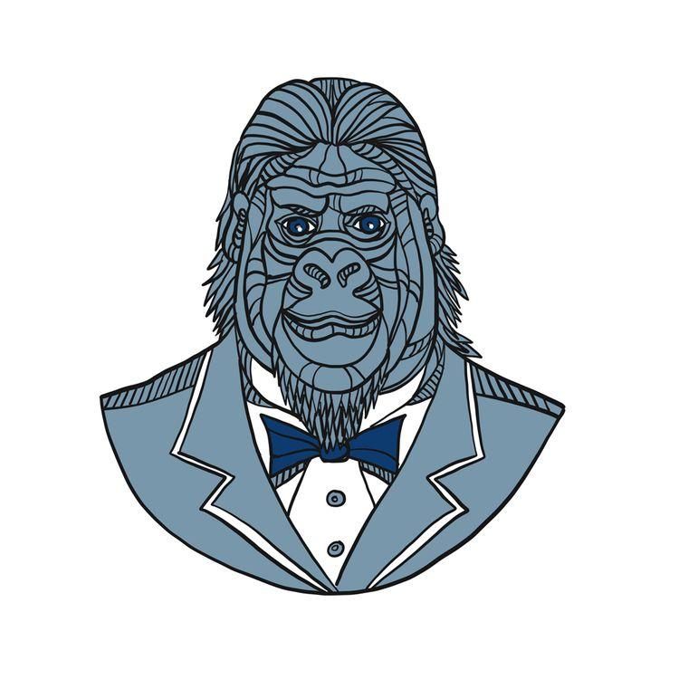 Gorilla Tuxedo Jacket Monoline  - patrimonio | ello