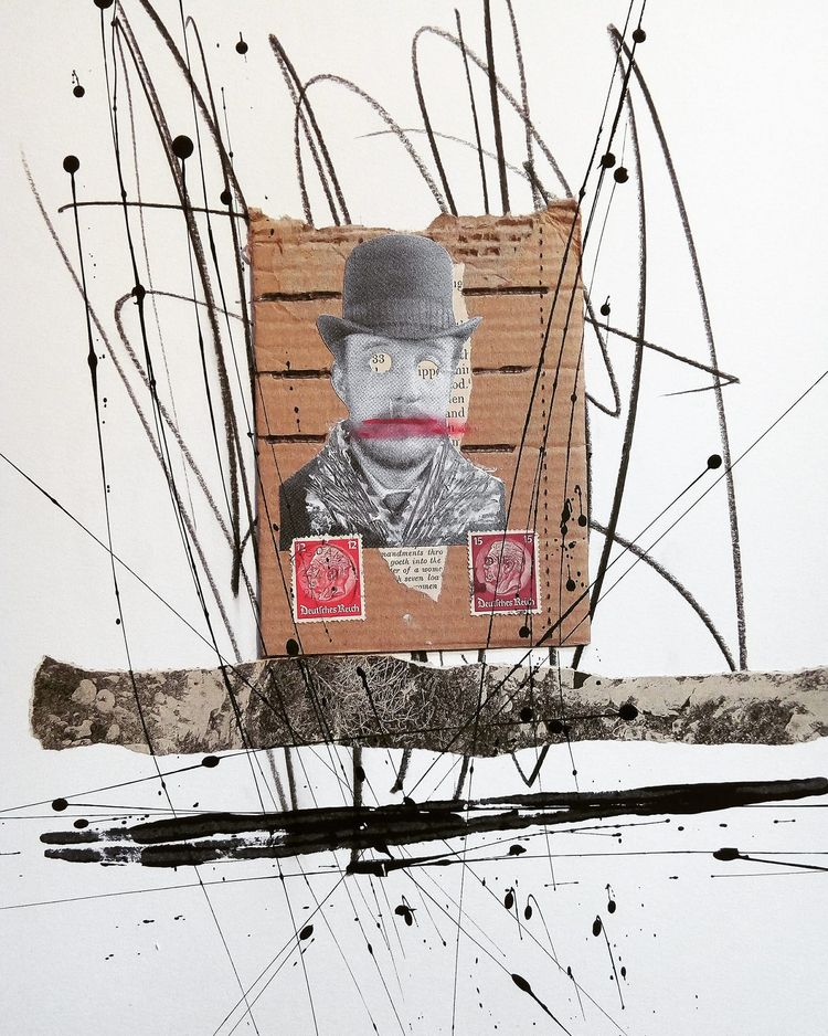collage, mixmedia, man, woman - sanchezisdead | ello
