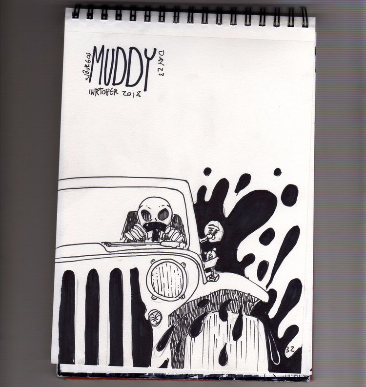 day 23 - inktober2018, muddy, tipography - cjburgos | ello