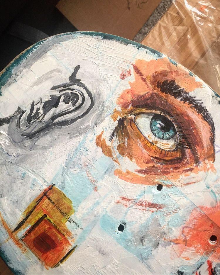 skateboard paintings - art, eye - indie_stones | ello